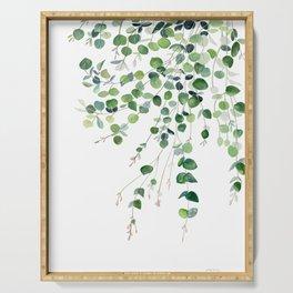 Eucalyptus Watercolor Serving Tray