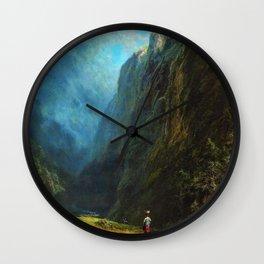 In The Alpine High Valley - Carl Spitzweg Wall Clock