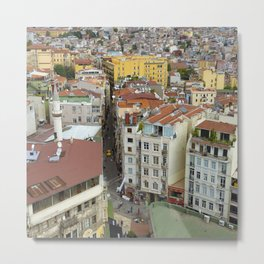 Life goes on in Constantinople - Istanbul cityscape photography Metal Print