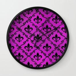 Flowre Deluce Wall Clock
