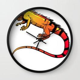 Iguana Lizard Beautiful Iguana Colorful Graphic Print Gift Wall Clock