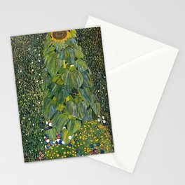 The Sunflower (and wildflowers) by Gustav Klimt Stationery Cards