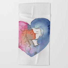 Love in a Heart Beach Towel