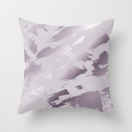 Blush lavender purple abstract glitter brushstrokes Throw Pillow