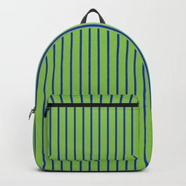 Lime Green with Blue Stripes Backpack