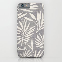 WHIMSY LEAF GREY iPhone Case