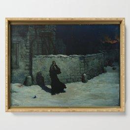 Gustave Dore - Sœur de la Charite sauvant un enfant Épisode du sige de Paris Serving Tray