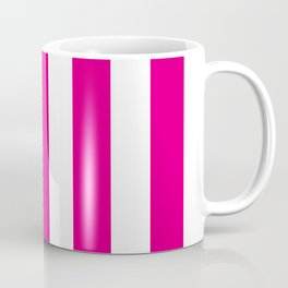Mexican pink - solid color - white vertical lines pattern Coffee Mug
