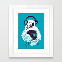 Record Bear Framed Art Print