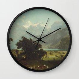 Albert Bierstadt - Lake Lucerne Wall Clock