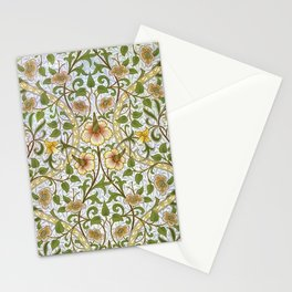 William Morris Narcissus, Daffodil, Calla Lily Textile Floral Print Stationery Cards