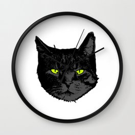 Perfect Gift for Cat Lovers A Black Persian Cat Tee T-shirt Design Kitty Kitten Animals Fur Cute Wall Clock