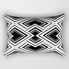Black And White Art Deco Squares Rectangular Pillow