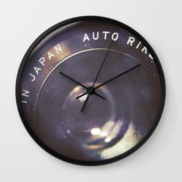 Vintage Ricoh Camera Diptych Wall Clock
