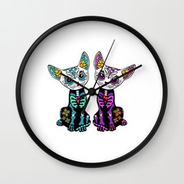 Unique Gift for Cat Lovers T-shirt Minimal Design Kitty Kitten Animals Fur Cute Owners Claw Wall Clock