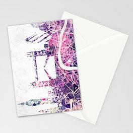 LONDON Skyline + map Stationery Cards