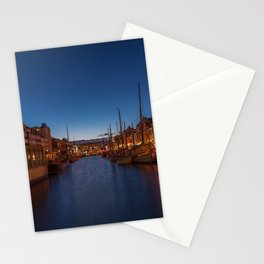 Early evening lights on the Nyhavn Stationery Cards