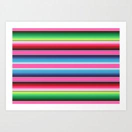Pink Mexican Serape Blanket Stripes Kunstdrucke