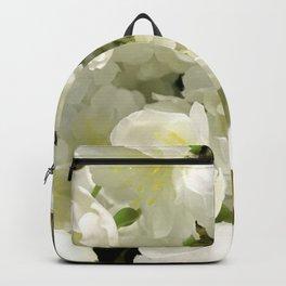 Elegant White Floral Spring Bouquet Backpack