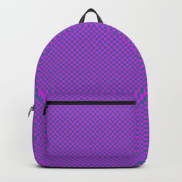 Magenta and sea green squares Backpack