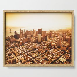 san francisco skyline Serving Tray