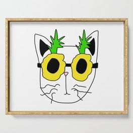 Cat Pineapple Sunglasses Serving Tray