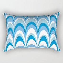 Marbling Comb - Blue Sky Rectangular Pillow