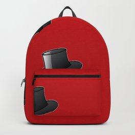 Top hats on red Backpack