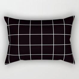 Citymap Grid - Black/White Rectangular Pillow