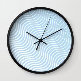 Whisker Pattern - Light Blue & White #285 Wall Clock