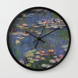 Water Lilies (Nymphéas), c.1916 Art, Monet Wall Clock