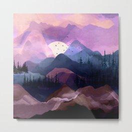 Misty Mountain Morning Metal Print