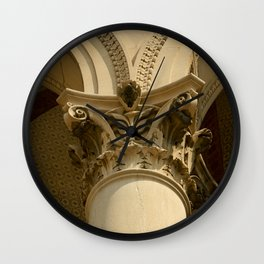 SEPIA COLUMN Wall Clock