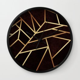 Dark Ruby Wall Clock