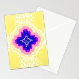 chakra, yellow Stationery Cards