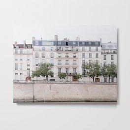 Seine River - Paris France, Architecture, Travel Photography Metal Print