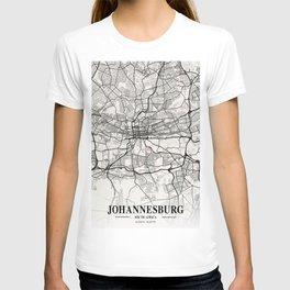 Johannesburg - South Africa Neapolitan City Map T-shirt