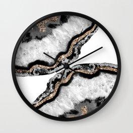 Yin Yang Agate Glitter Glam #7 #gem #decor #art #society6 Wall Clock
