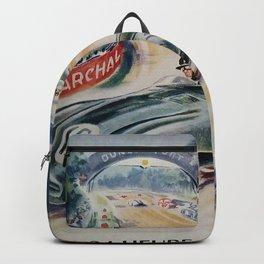 1954 Le Mans poster, Race poster, car poster, programme officiel Backpack