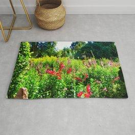 Cottagecore Aesthetic  English Countryside   Wild Flowers Summer Decoration Rug