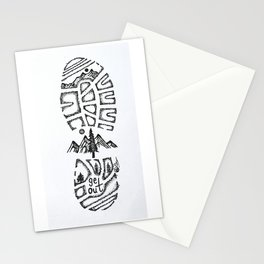 """Tread Lightly""  Hand-Drawn by Dark Mountain Arts Stationery Cards"
