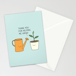 Thank you for helping me grow! Stationery Cards