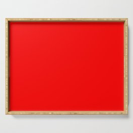 #Bright red #scarlet Serving Tray