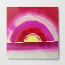 Ocean Sunrise - Red Skies Portrait Painting by Georgia O'Keeffe Metal Print