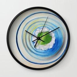 Limeade In A Blue Glass Wall Clock
