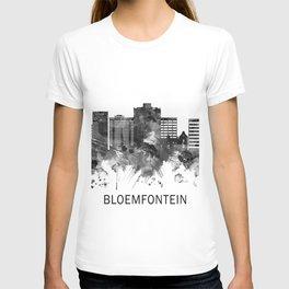 Bloemfontein South Africa Skyline BW T-shirt