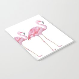 Flamingo - Pink Bird - Animal On White Background Notebook