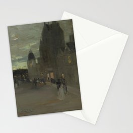 James Guthrie - Street in Oban, Night Stationery Cards
