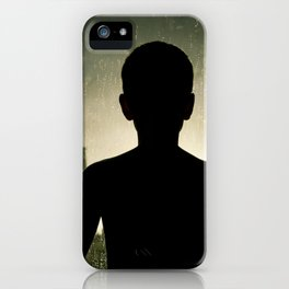 Sunset Rain Boy iPhone Case