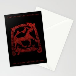Norse runic design Stationery Cards